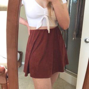 Faux Suede Garage Skirt